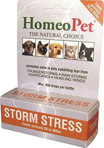 HomeoPet Pro Storm Stress Dog 20-80 lbs 5 ml ORANGE - Peazz Pet