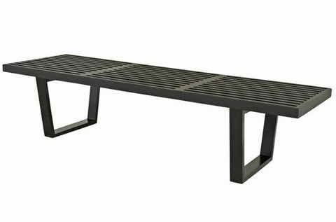 Mod Made MM-WS-028-BLACK Slat Bench