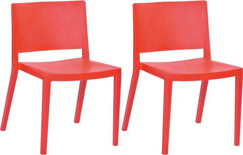 Mod Made MM-PC-071-RED Elio Chair 2-Pack