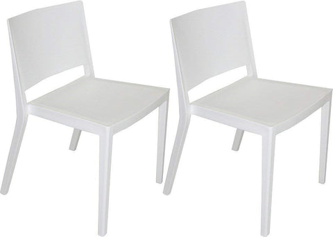 Mod Made MM-PC-071-WHITE Elio Chair 2-Pack