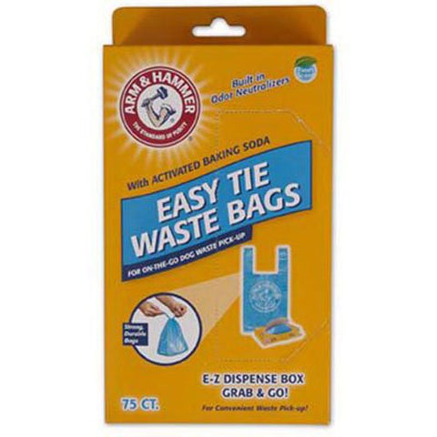 Petmate PTM71041 Arm and Hammer Easy-Tie Waste Bags 75 count