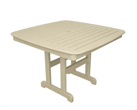 "Polywood NCT44SA Nautical 44"" Dining Table in Sand - Peazz.com - 1"