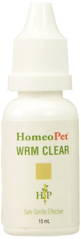 HomeoPet Wrm (Worm) Clear, 15 ml - Peazz Pet