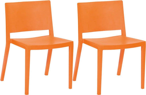 Mod Made MM-PC-071-ORANGE Elio Chair 2-Pack