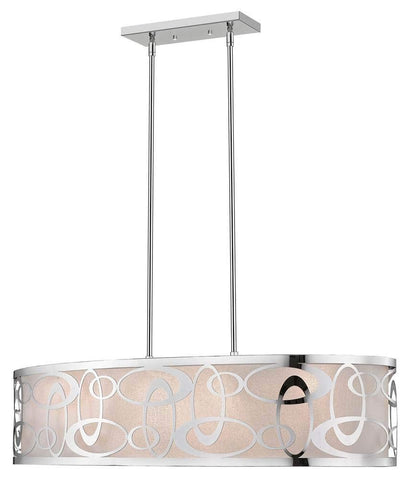 4-Light Pendant in Chrome Finish