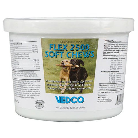 Flex 2500 Soft Chews, 120 Count - Peazz Pet