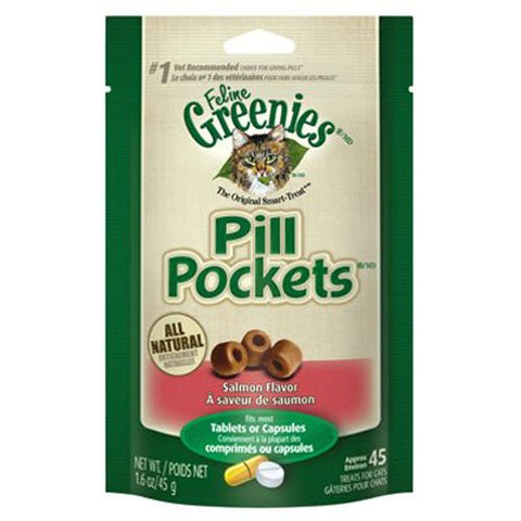 Nutro 13949 Feline Greenies Pill Pockets, Salmon Flavor, 1.6 oz - Peazz Pet
