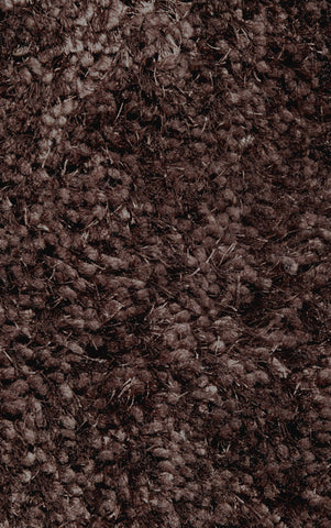 LA Rug 53-39X58 Super Shag Collection Brown - Peazz.com