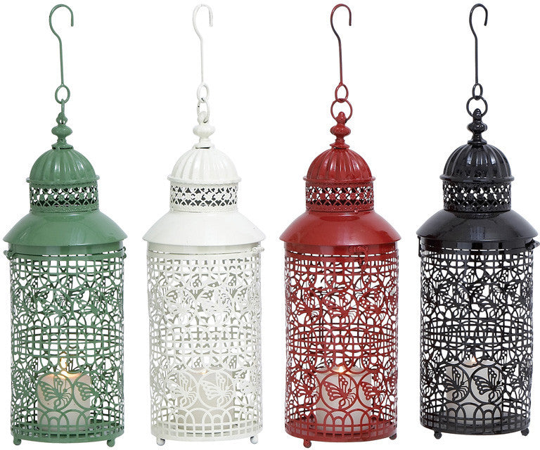 Benzara 53892 Metal Candle Holder With Four Assorted Colors BEN-53892