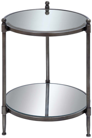 Benzara 53896 Mirror Accent Table With Metal Framework