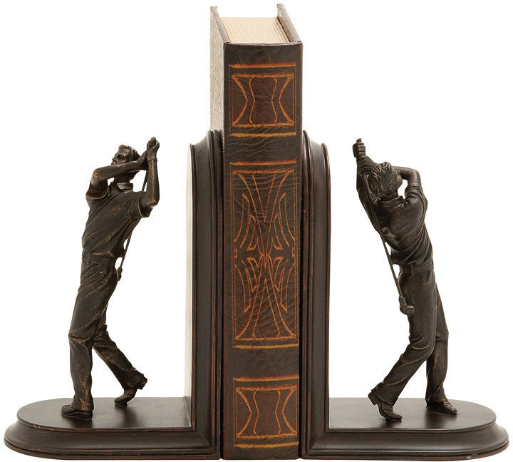 Benzara 54858 Stylish And Unique Golf Themed Bookends