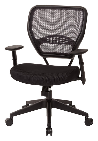 office star space seating 5500 professional black airgrid