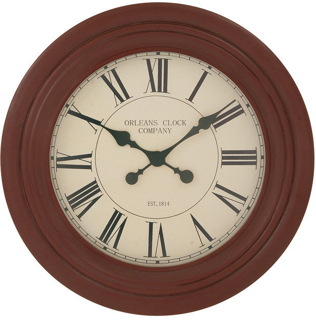 "Bayden Hill Wood Wall Clock 28""D"