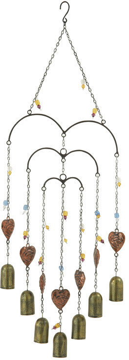 "Bayden Hill Metal Bead Windchime 10""W, 30""H"