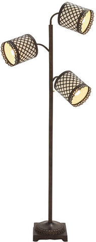 Benzara 59514 Mesmerizing Stylish Metal 3 Arm Floor Lamp