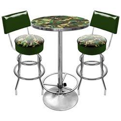 Adg Source Hunt9900-Camo Hunt Camo Gameroom Combo 2 Stools W/ Back & Table