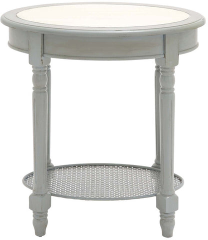 "Bayden Hill Wood Oval Accent Table 24""W, 26""H - Peazz.com"