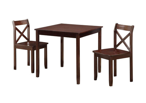 Boraam 21200 Jamie 3 Piece Dining Set, Cherry