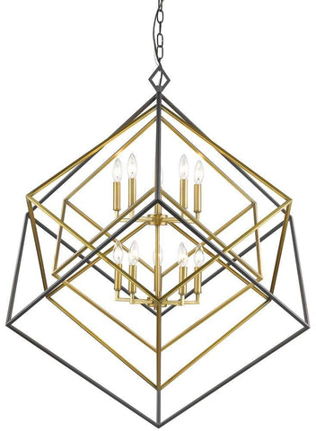 10-Light Chandelier in Olde Brass and Bronze Finish