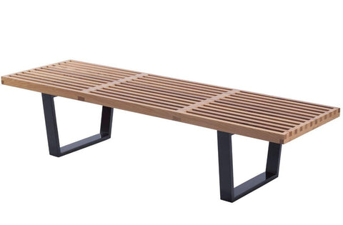 Mod Made MM-WS-028-NATURAL Slat Bench