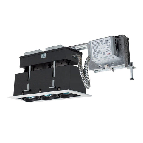 Jesco Lighting MMGRMH1639-3EAW 3-Light Linear Remodel (Metal Halide) Includes 120V Electronic Ballast