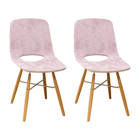 Mod Made MM-SW10003-PINK Morza Armless Chair (Set of 2)