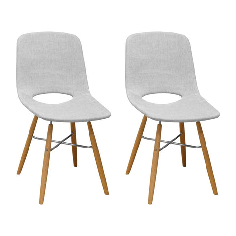Mod Made MM-SW10003-LIGHT GREY Morza Armless Chair (Set of 2)
