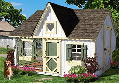 8 X 10 Victorian Cottage Kennel Panelized Kit