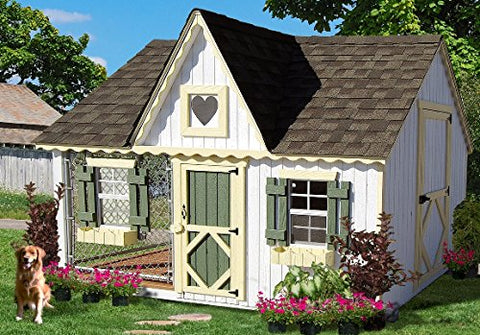 8 x 10 Victorian Cottage Kennel Panelized Kit - Peazz.com