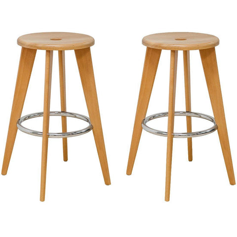 Mod Made MM-WS-033A-H75 Skylark Bar Stool 2-Pack