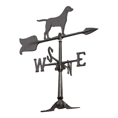 Whitehall Products Retriever Accent Weathervane, 24-Inch, Black