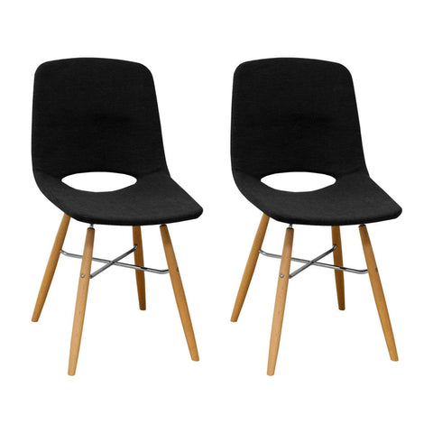 Mod Made MM-SW10003-CHARCOAL Morza Armless Chair (Set of 2)