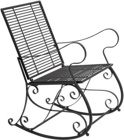 Benzara 63300 Metal Rocker Chair Patio Furniture