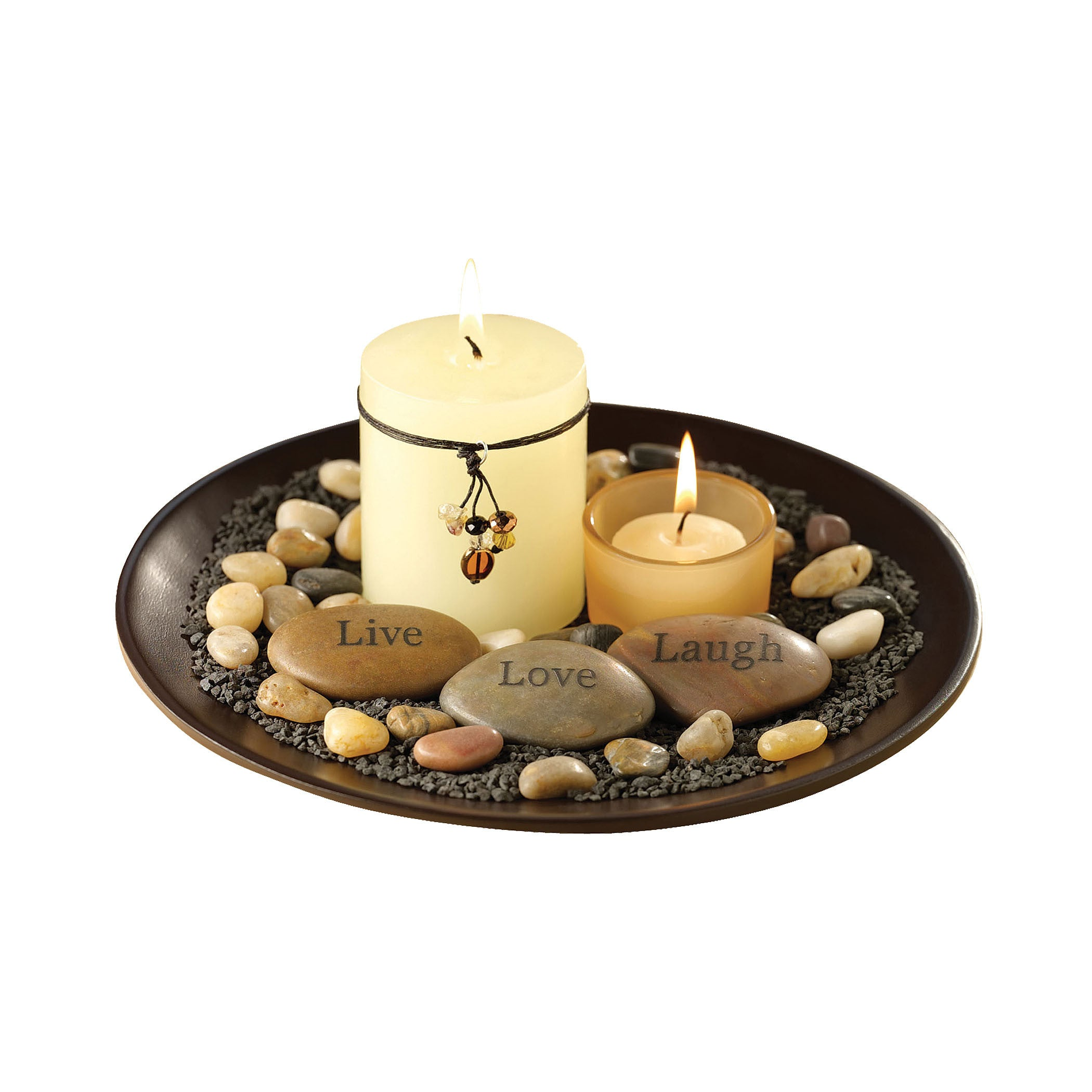 Pomeroy POM-633614 Sentiments Collection Espresso Finish Candle/Candle Holder