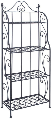 Benzara 63376 Bakers Rack With Classic Design In Black Matte Finish