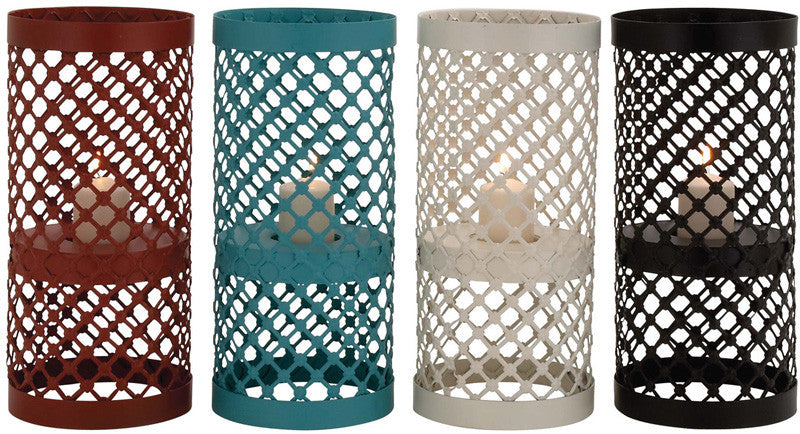 Benzara 65340 The Timeless Metal Candle Holder 4 Assorted