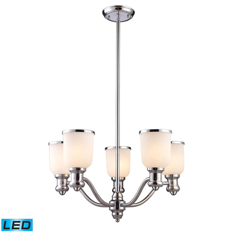 ELK Lighting 66153-5-LED Brooksdale Collection Polished Chrome Finish - PeazzLighting