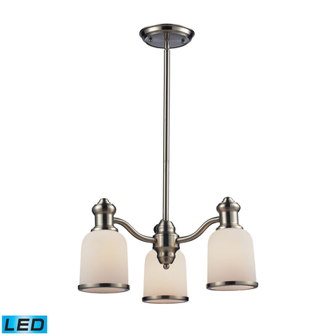 ELK Lighting 66162-3-LED Brooksdale Collection Satin Nickel Finish - PeazzLighting