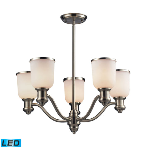 ELK Lighting 66163-5-LED Brooksdale Collection Satin Nickel Finish - PeazzLighting