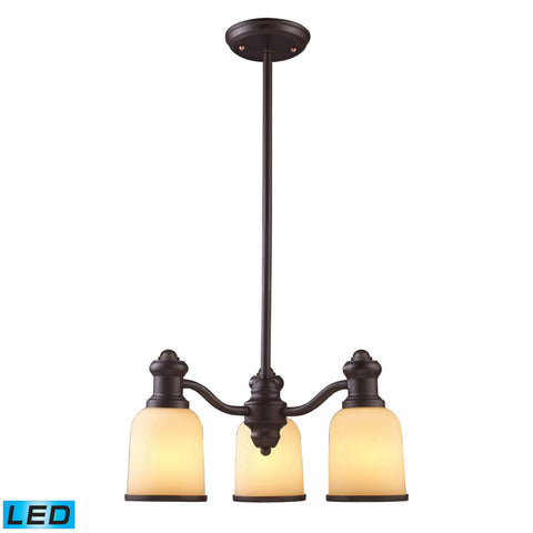 ELK Lighting 66172-3-LED Brooksdale Collection Oiled Bronze Finish - PeazzLighting