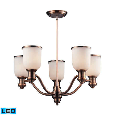 ELK Lighting 66183-5-LED Brooksdale Collection Antique Copper Finish - PeazzLighting