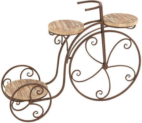 Bayden Hill Metal Wood Bicycle Plnt Stnd 31 Quot W 23 Quot H