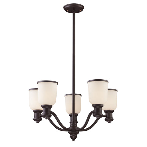 ELK Lighting 66673-5 Brooksdale Collection Oiled Bronze Finish - PeazzLighting