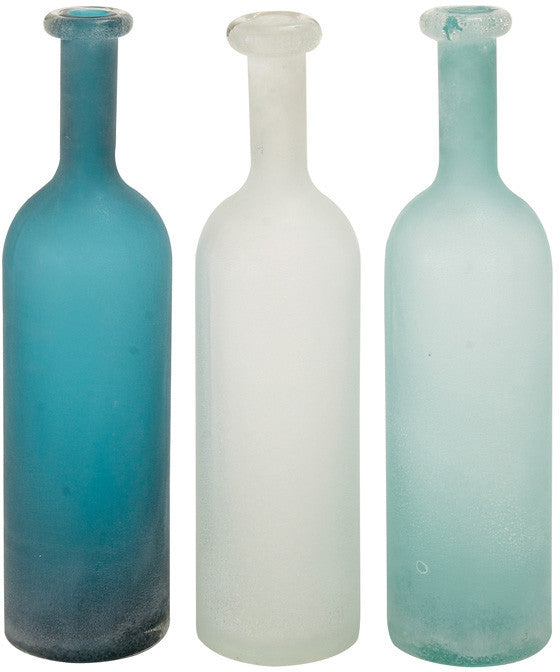 Benzara 67464 The Slender Glass Vase 3 Assorted
