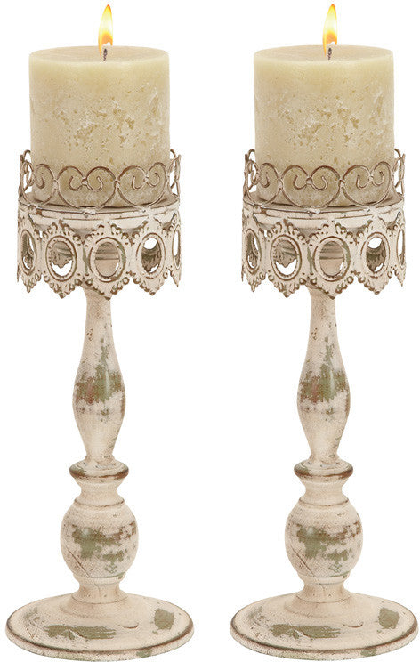 "Bayden Hill Metal Candle Holder Pair 14""H, 6""W"