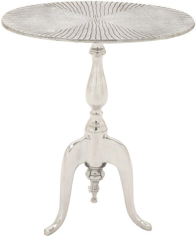 "Bayden Hill Alum Oval Accent Table 19""W, 22""H - Peazz.com"