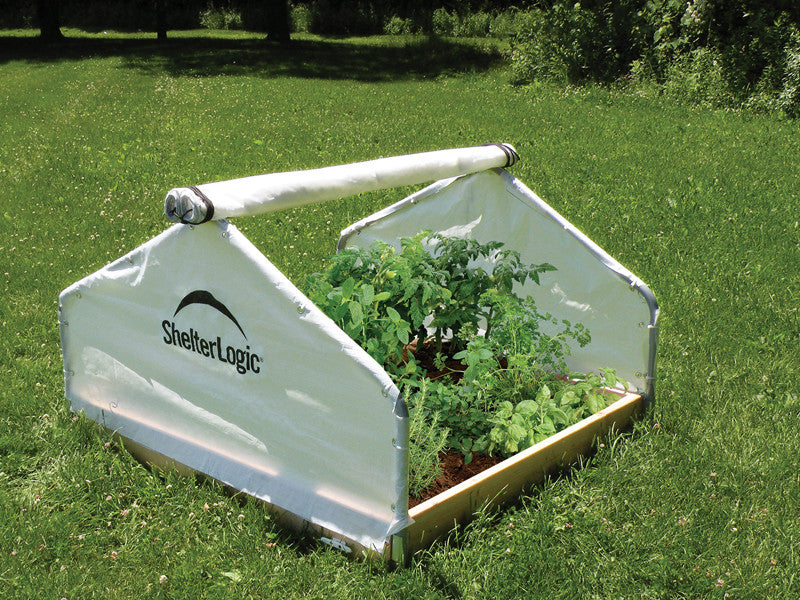 ShelterLogic 70619 4X4X2'4'' Peak Raised Bed Greenhouse With Roll-Up Cover