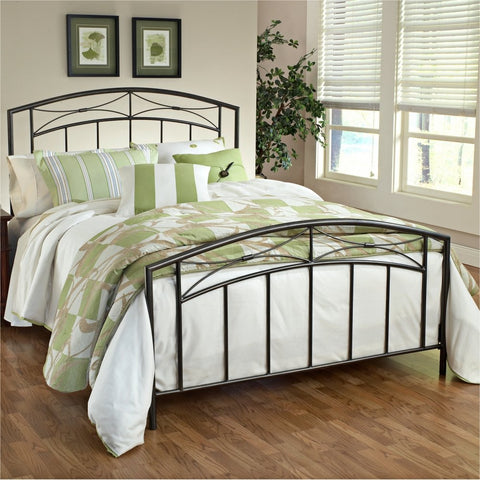 Hillsdale 1545BKR Morris Duo Panel King Bed with 6 Leg Bed Frame