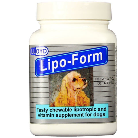 LLOYD 10544 LipoForm Chewable Tablets, 50 Tablets - Peazz Pet