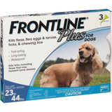 Merial 10187 Frontline Plus For Dogs 2344 lbs, Blue 3 Tubes